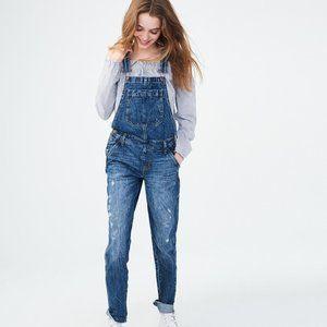 Aeropostale Acid Washed Overalls Patch Medium Jean